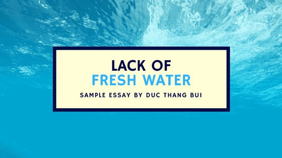 ack of fresh water sample essay