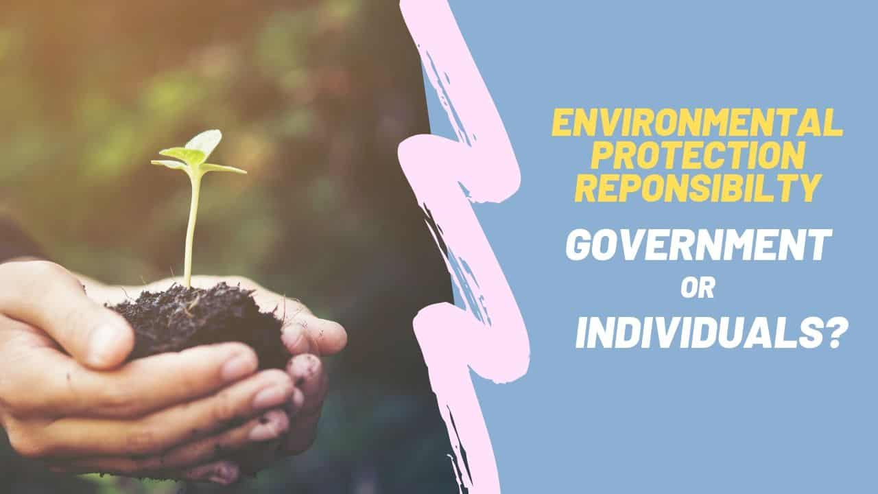 environmental protection responsility governement or individuals ielts writing task 2 sample