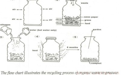 [Sample IELTS Writing Task 1] How To Recycle Organic Waste To Produce Fertiliser (Compost)